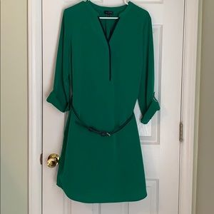 Green long sleeve shirt dress from The Limited